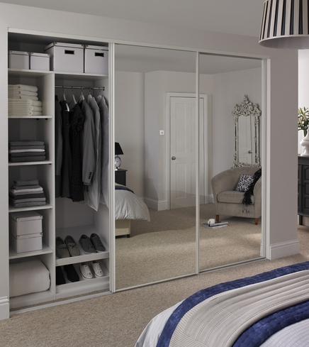 White Edge Mirror Door Howdens Joinery