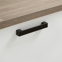 Black square D handle | Kitchen handles | Howdens Joinery