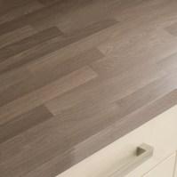 Square Edged Laminate Grey Oak Block Effect Worktop ...