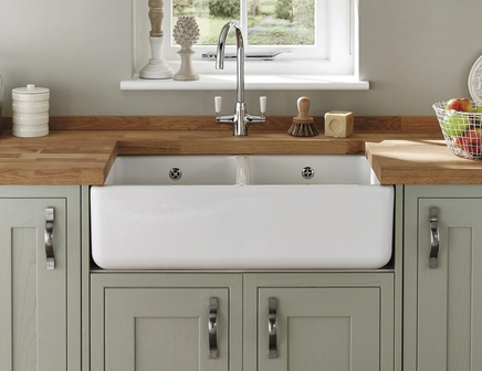 Lamona Ceramic Double Belfast Sink Ceramic Kitchen Sinks