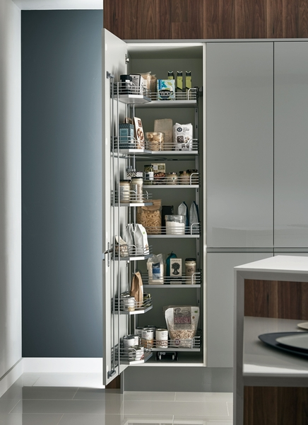 Kitchen Cabinet Hardware For White Cabinets Full-height Pull & Swing Larder | Kitchen Storage