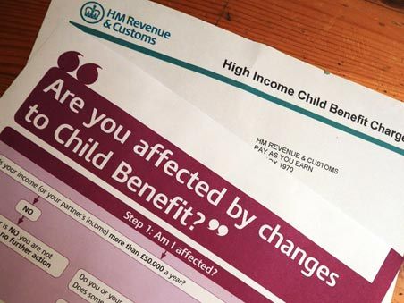 Child Benefit self-assessment warning to parents