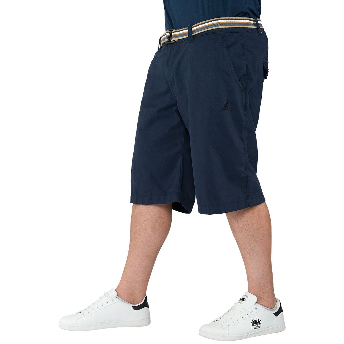 King Size Clothing Kangol Mens Plus King Size Mid Length Shorts Cotton Chino