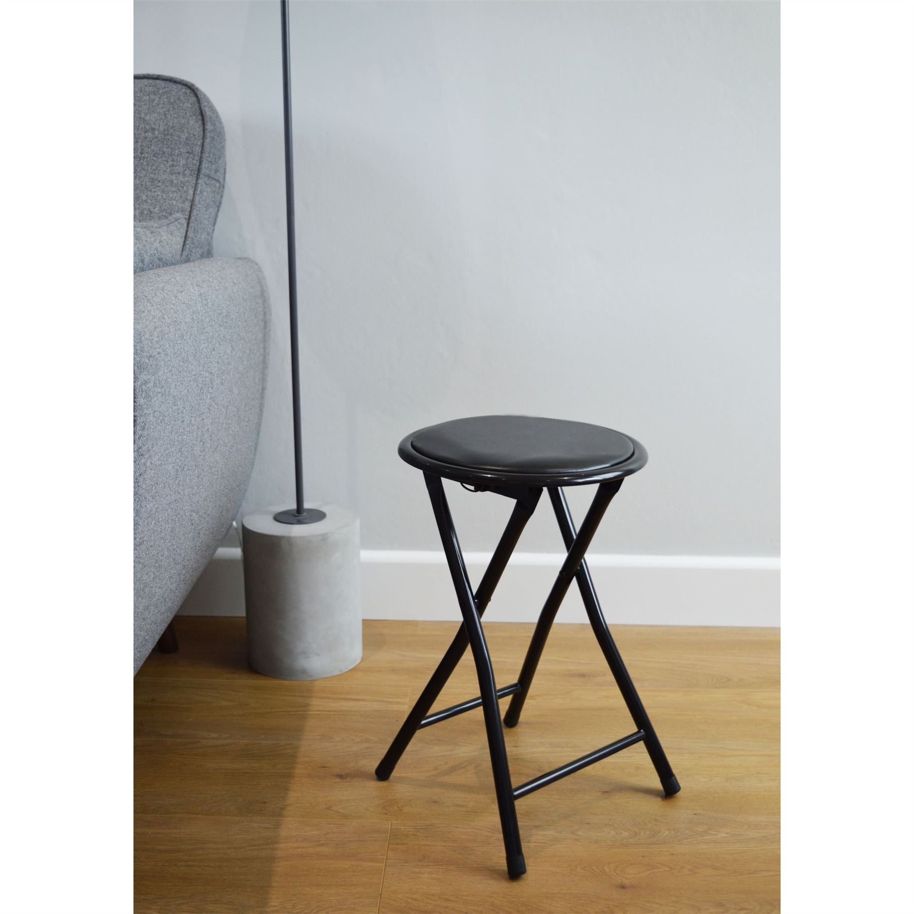 Padded Stool Round Folding Padded Stool Office Kitchen Breakfast