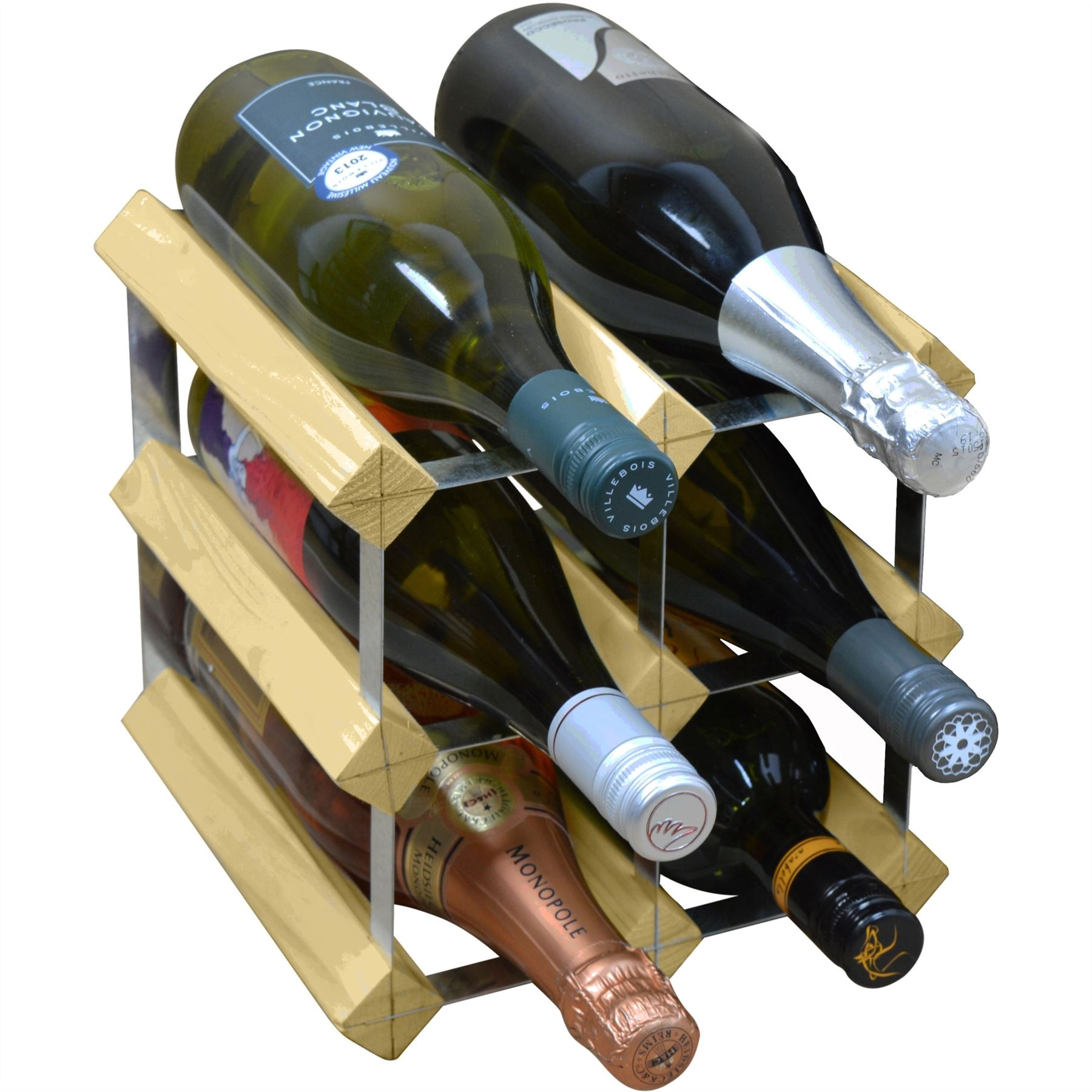 Wooden Bottle Rack Details About Wine Bottle Rack 6 Bottle Traditional Wooden Storage Assembled Light Wood