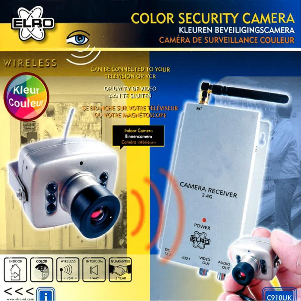 Elro Camera Set Details About Elro Cctv Wireless Indoor Colour 2ch Security System Surveillance Camera C910uk