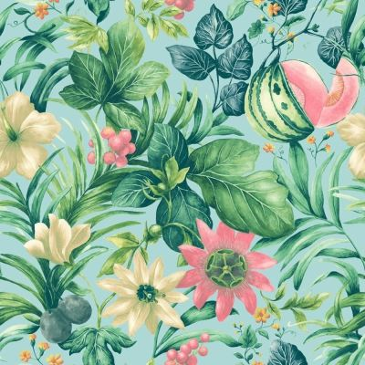Grandeco Botanical Fruit Flower Pattern Wallpaper Tropical Floral Motif Textured | eBay