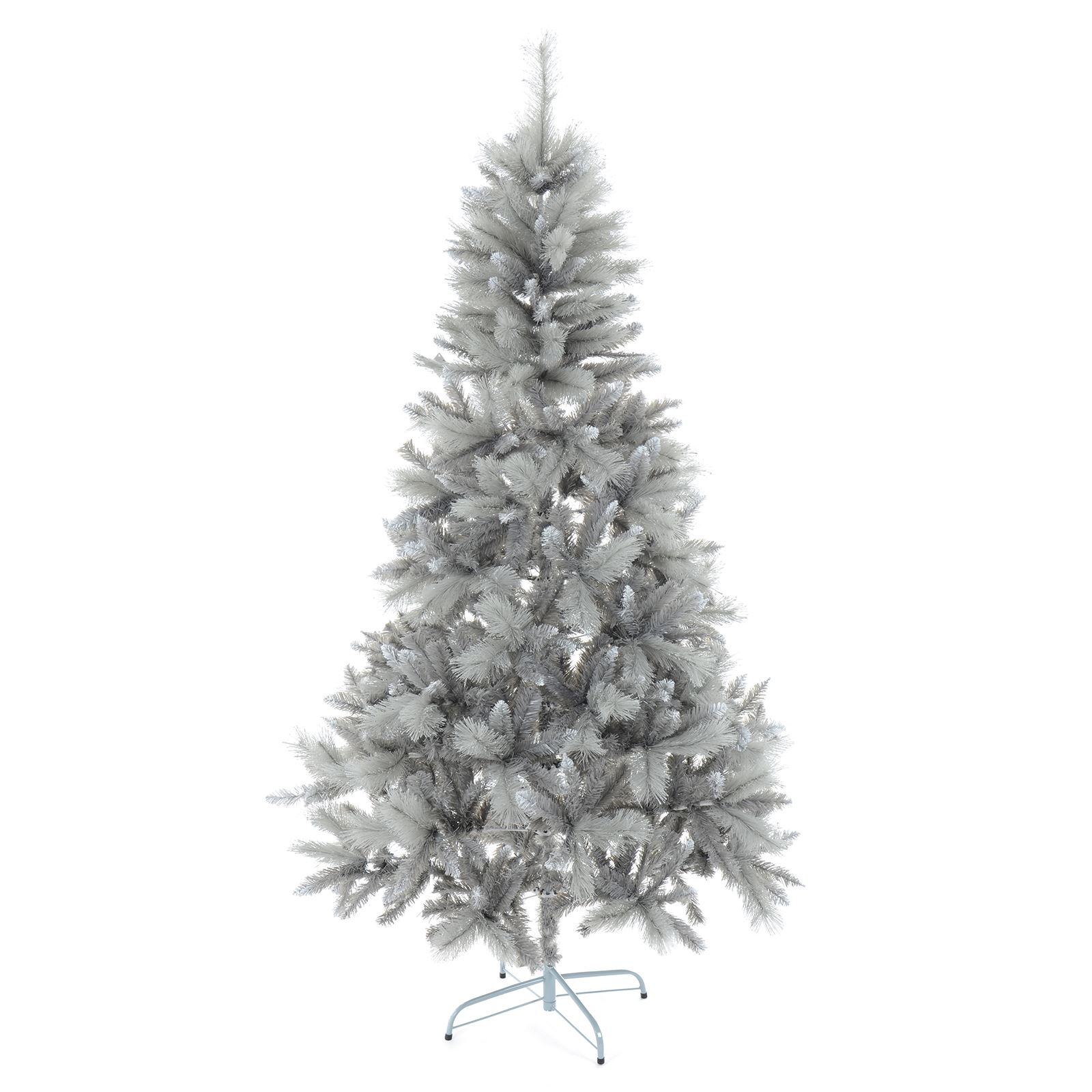 Zilveren Kerstboom 6ft 7ft Silver Mixed Pine Artificial Christmas Tree Silver