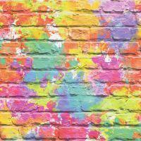 Colourful Brick Effect Wallpaper 3D Slate Stone Rustic