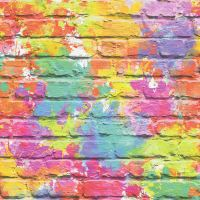 Colourful Brick Effect Wallpaper 3D Slate Stone Rustic ...