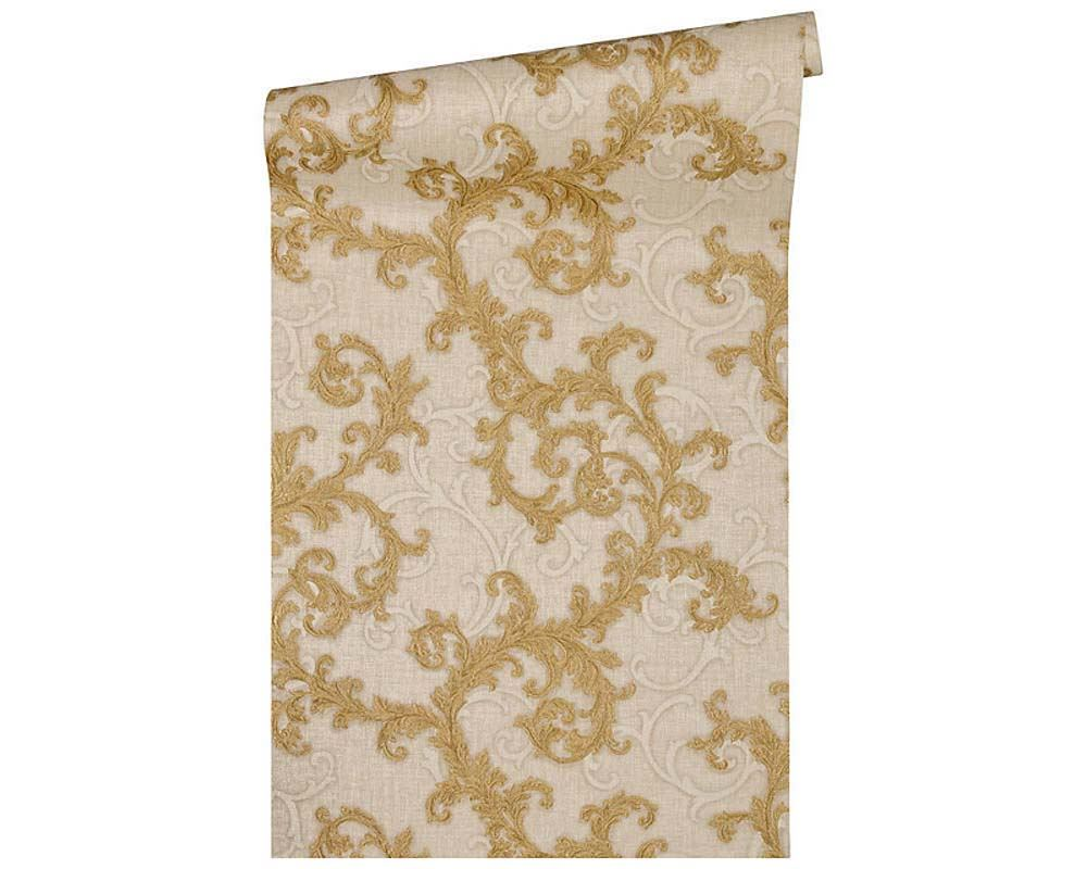 Tapeten Versace Wallpaper Damask Swirl Trail Vinyl Textured Paste Wall Retro Designer Heimwerker Breathtime Kz