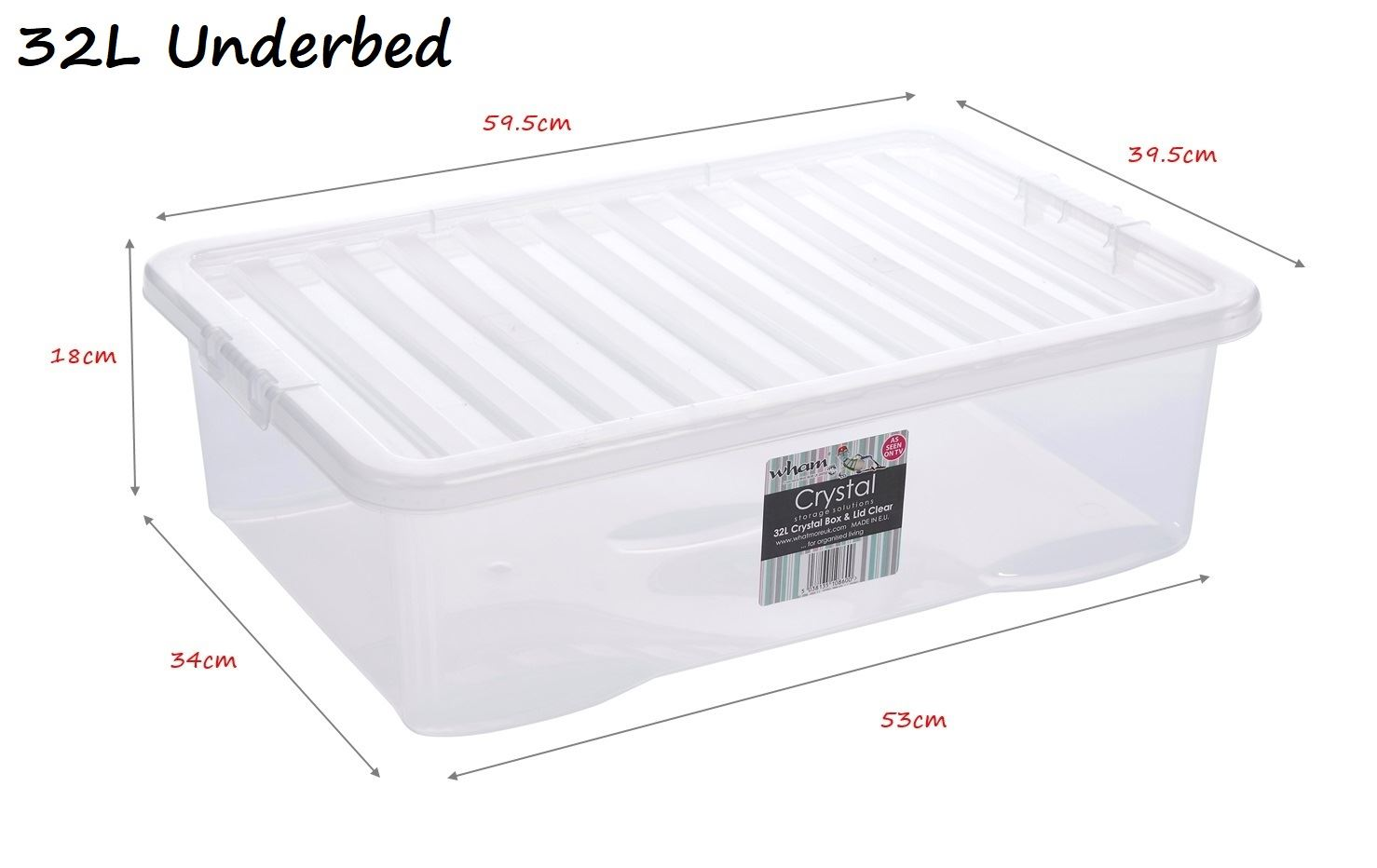 Clear Box Clear Plastic Storage Boxes Box Container W Lids Home
