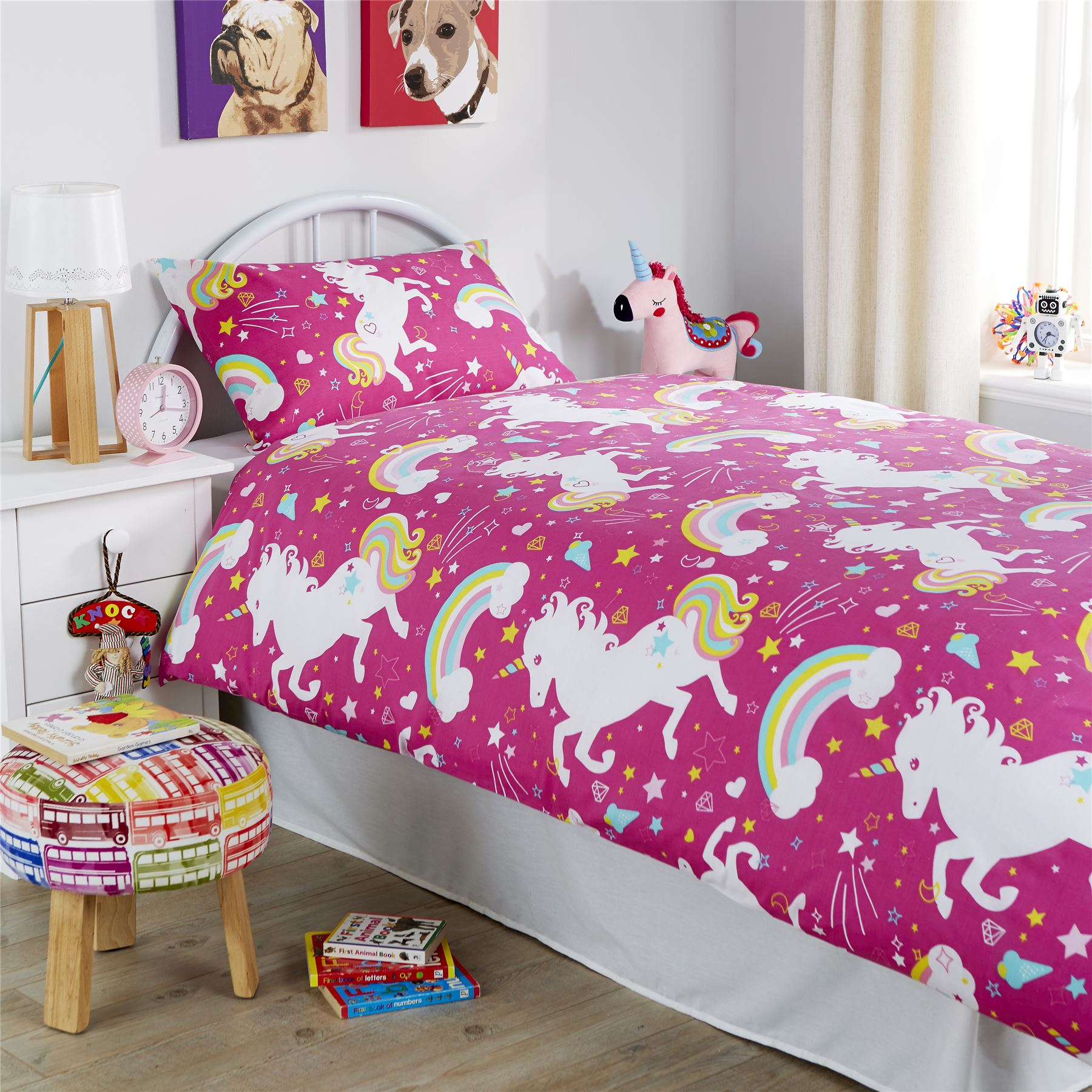 Double Doona Covers Unicorn Duvet Cover Set Girls Quilt Cover Unicorn Bedding