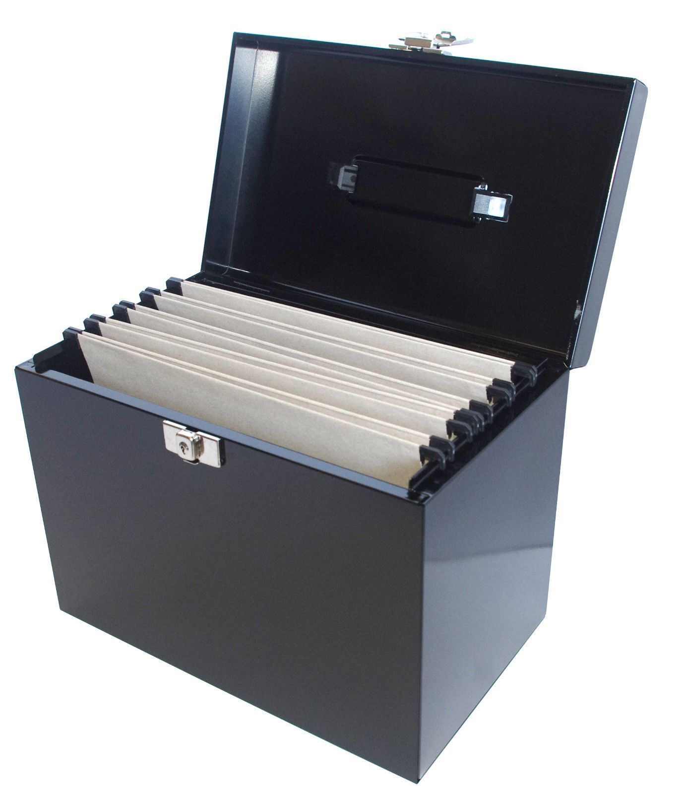 File Box A4 Metal File Filing Box Home Office Storage Lockable 43 5