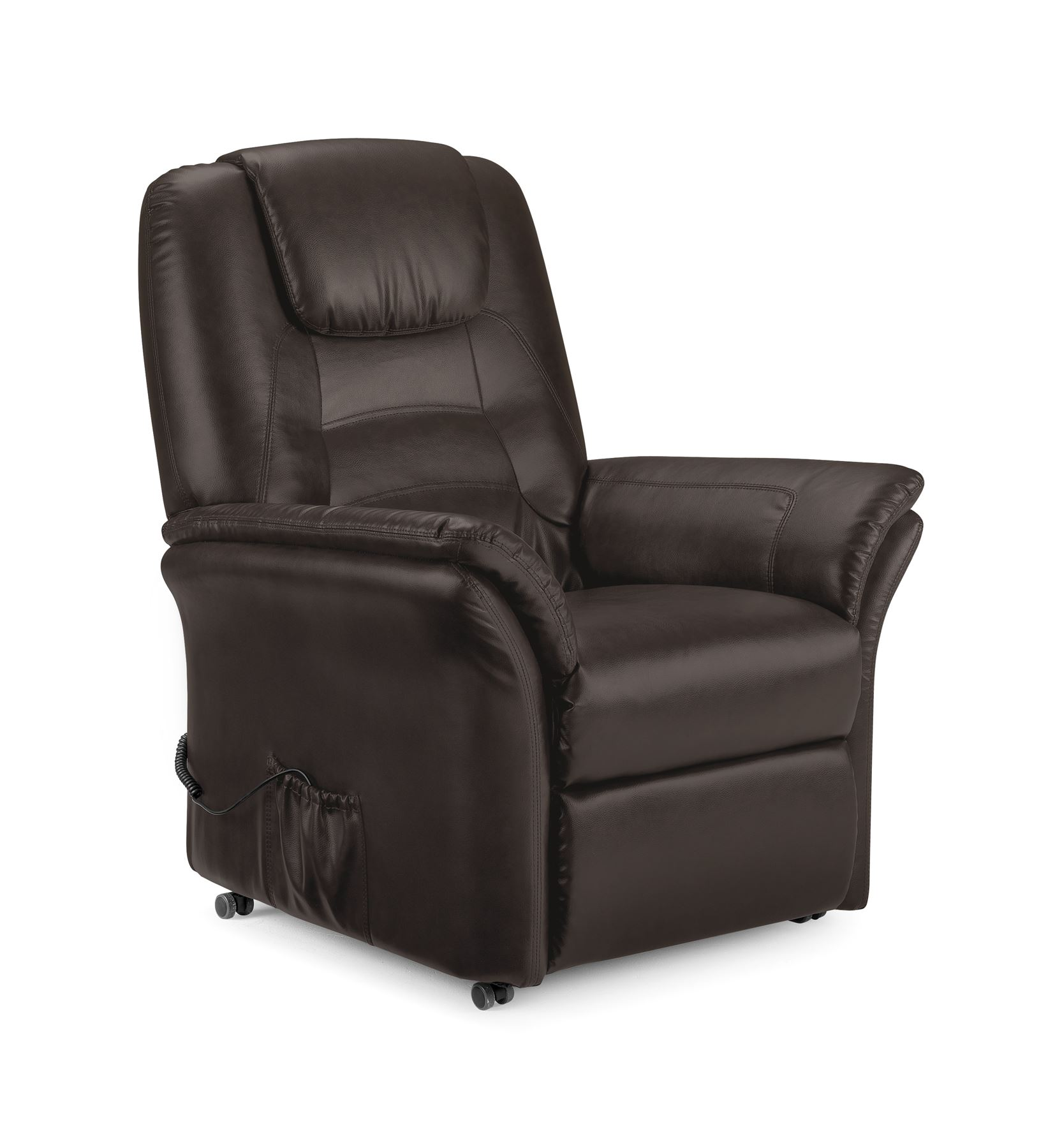 Electric Recliner Leather Chairs Riva Electric Recliner Chair Brown Faux Leather New Ebay
