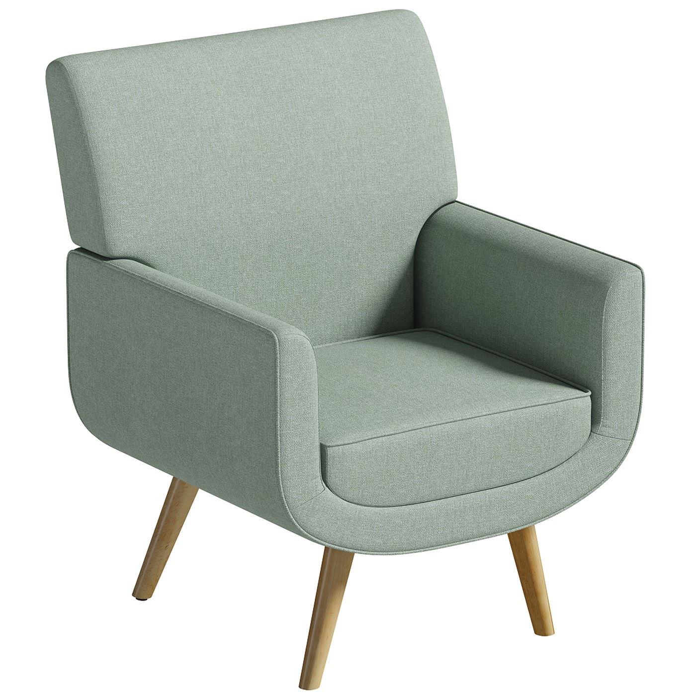 Scandinavian Accent Chair Yves Chair Only Sage Green Accent Easy Fabric Armchair