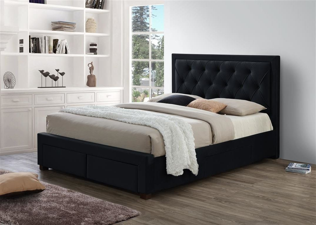 180cm Bed Details About Birlea Woodbury Black Fabric Drawer Storage Bed Frame Super King Size 180cm 6ft