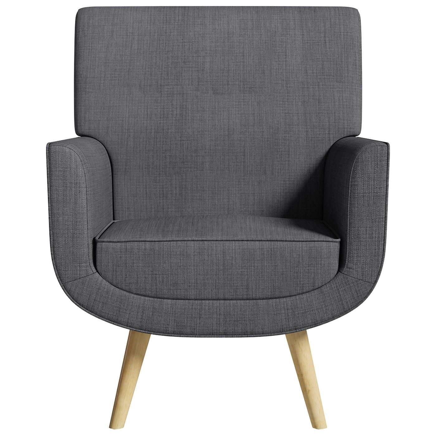 Scandinavian Accent Chair Yves Armchair And Stool Steel Grey Accent Easy Fabric Chair