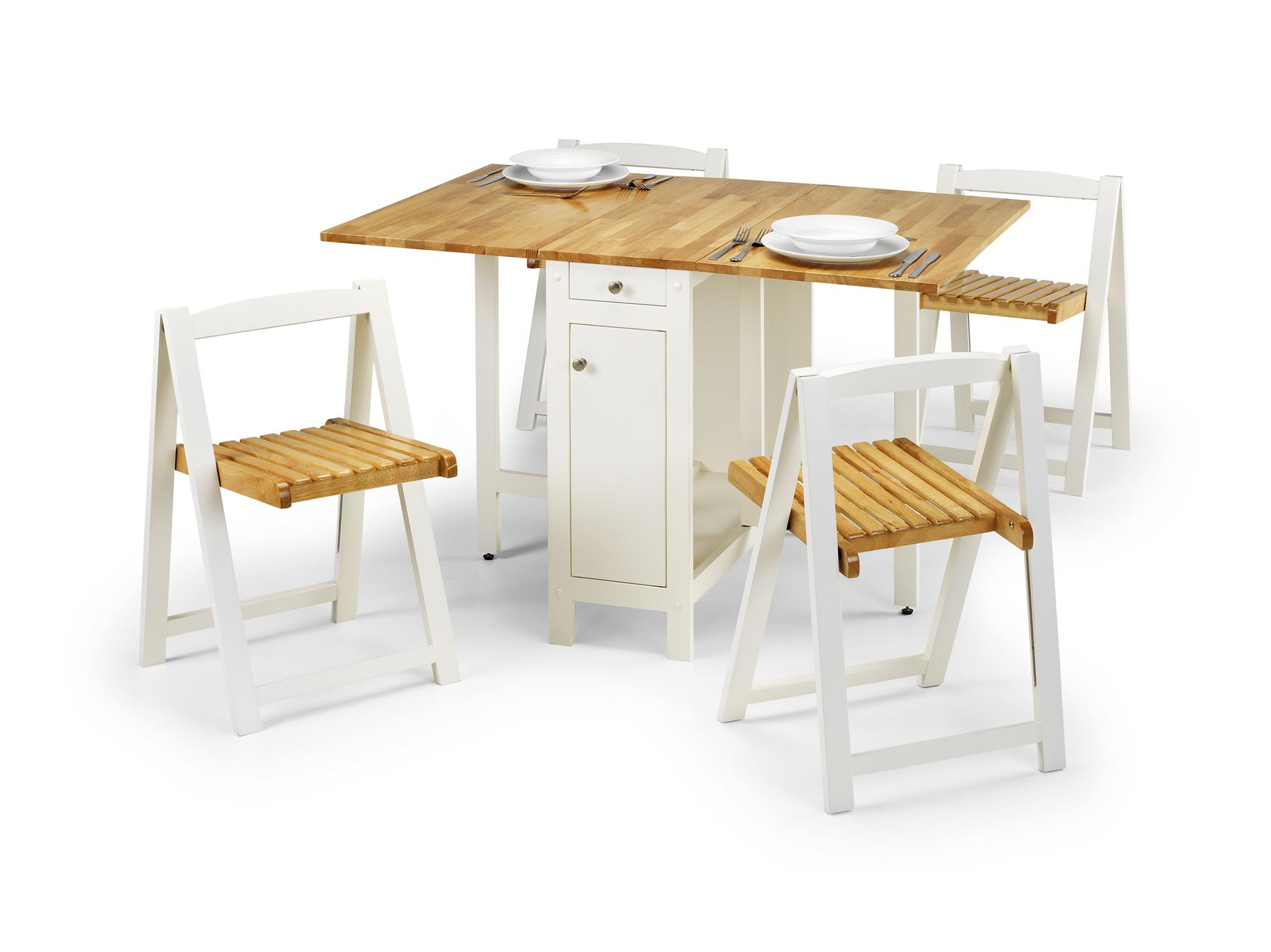 White Space Saving Table And Chairs Julian Bowen Savoy Space Saving Folding Butterfly Table 4