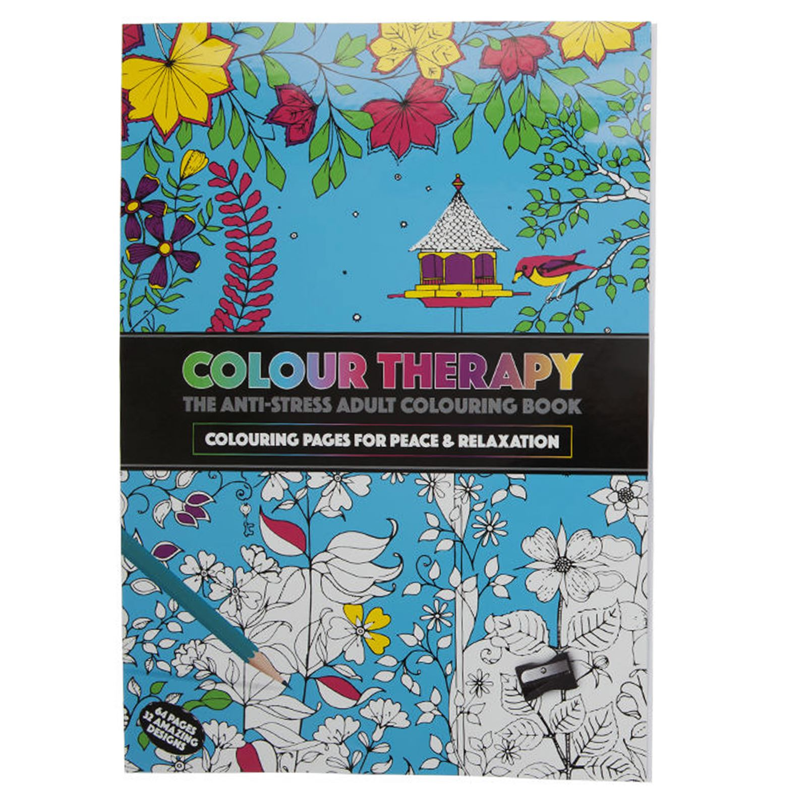 New colour therapy adult colouring books anti stress