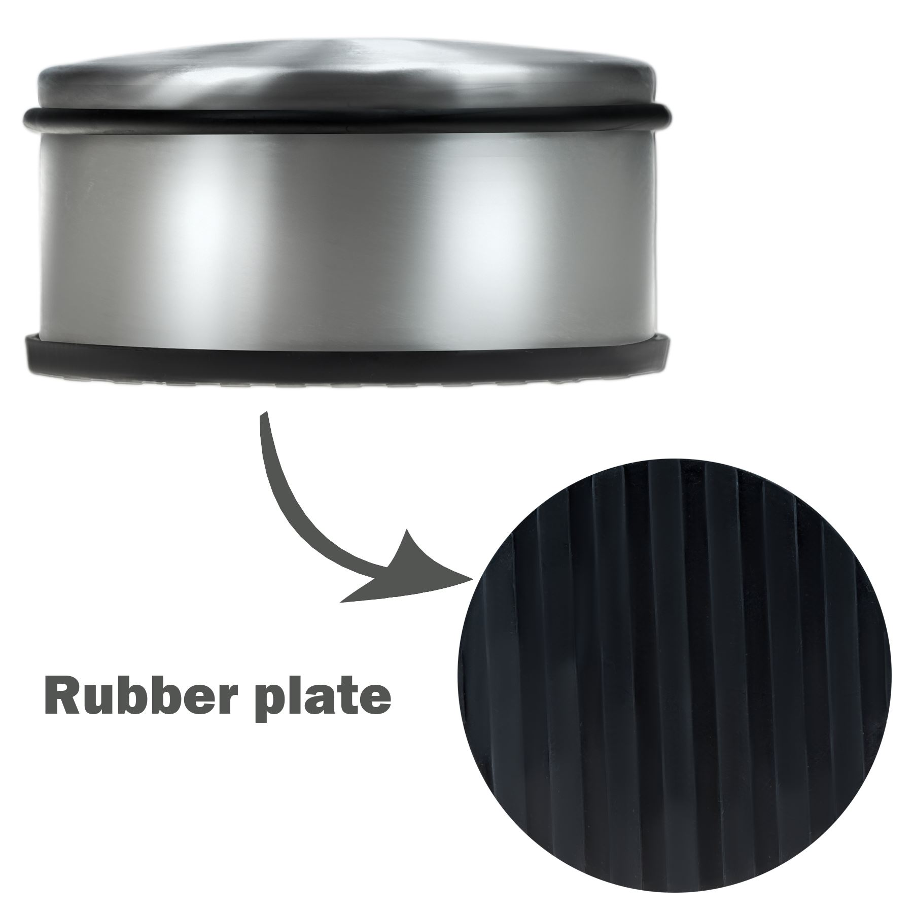 Heavy Weight Door Stop Details About Round Chrome Metal Door Stopper Stop Rubber Floor Protector Heavy Weight Duty