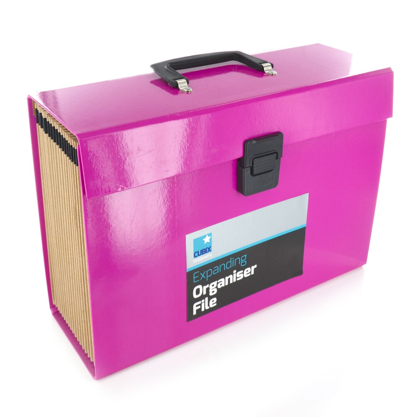 File Box 19 Pocket Expanding A4 Box File Organiser Paper Documents