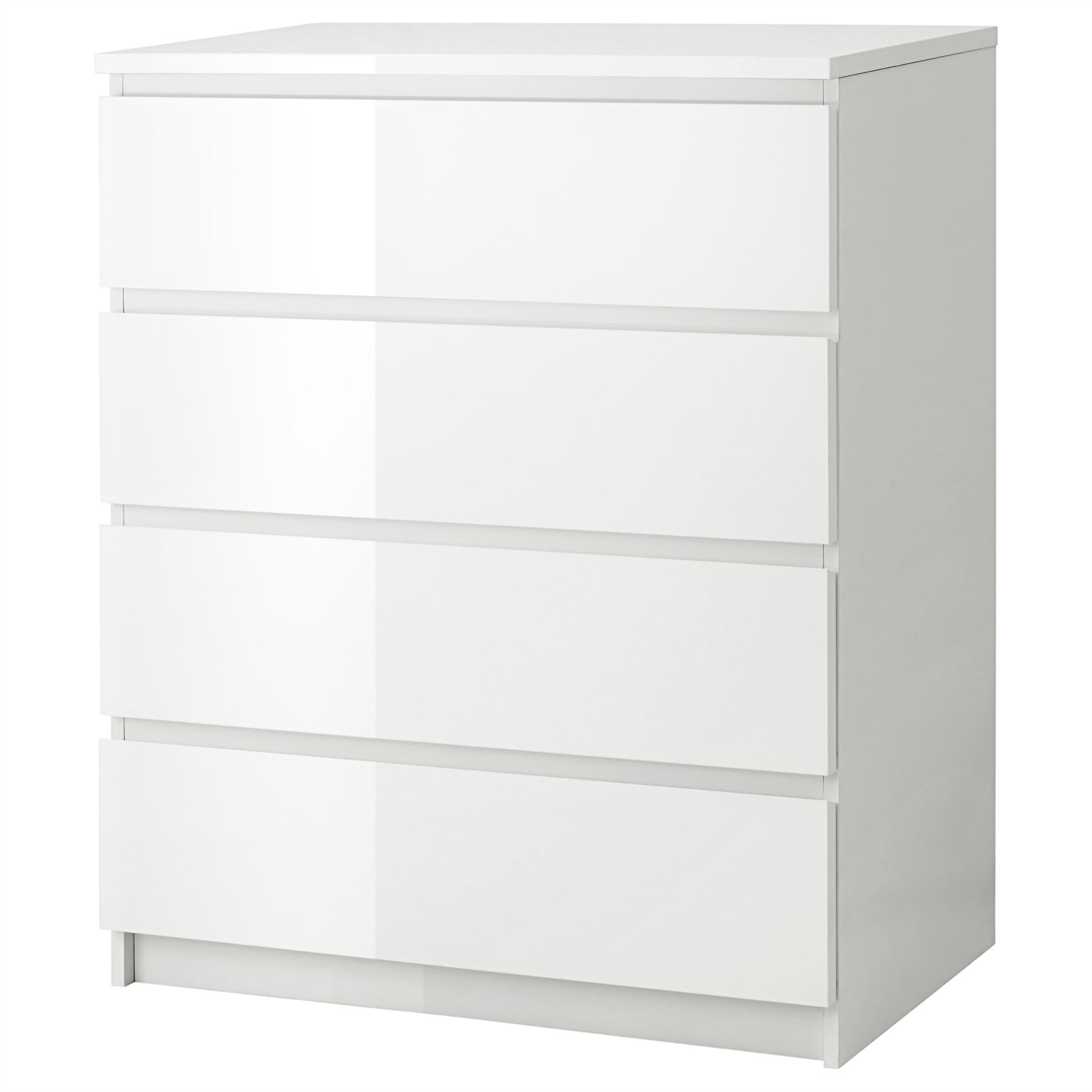 Jysk Badezimmermöbel Ikea Malm Chest Of 4 Drawers 80x100cm White High Gloss