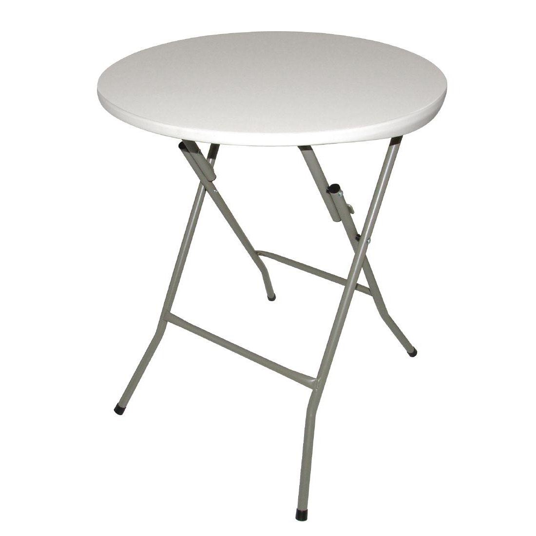 Table Polypropylène Details About Bolero Foldaway Round Table Polypropylene Top With Steel Frame 735 H X600mm