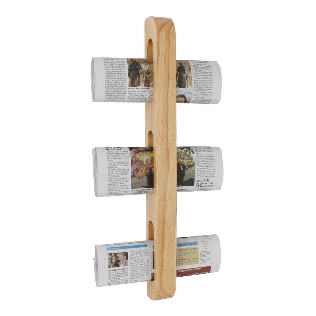 Olympia Wall Mounted Magazine Rack Wooden Newspaper Holder