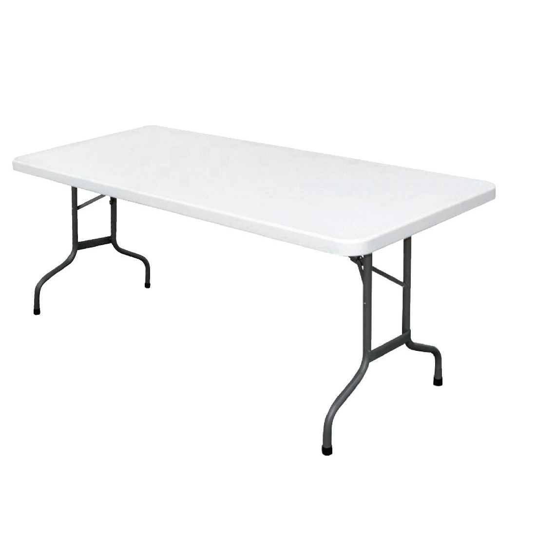 Table Polypropylène Details About Bolero Foldaway Rectangular Table Made Of Polypropylene And Steel 745x1827x750mm