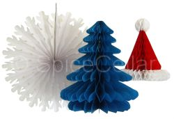 Serene Honeycomb Paper Decorations Santa Hat Xmas Tree Snowflake Honeycomb Paper Decorations Santa Hat Xmas Tree Paper Decorations Ebay Paper Decorations Pdf