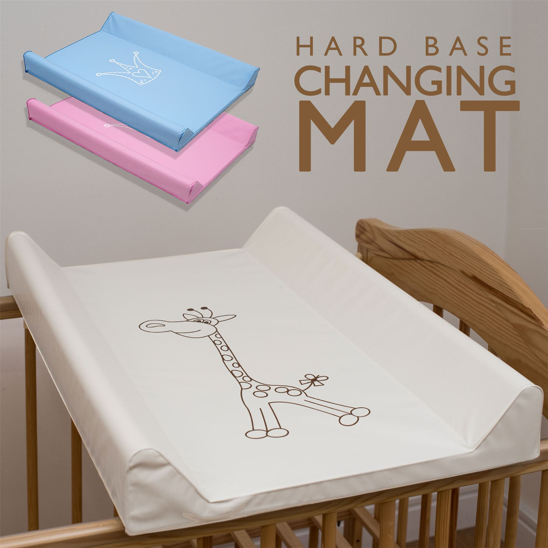 Baby Hard Base Changing Mat Cot Cot Bed Top Changer Unit - Baby Change Mats