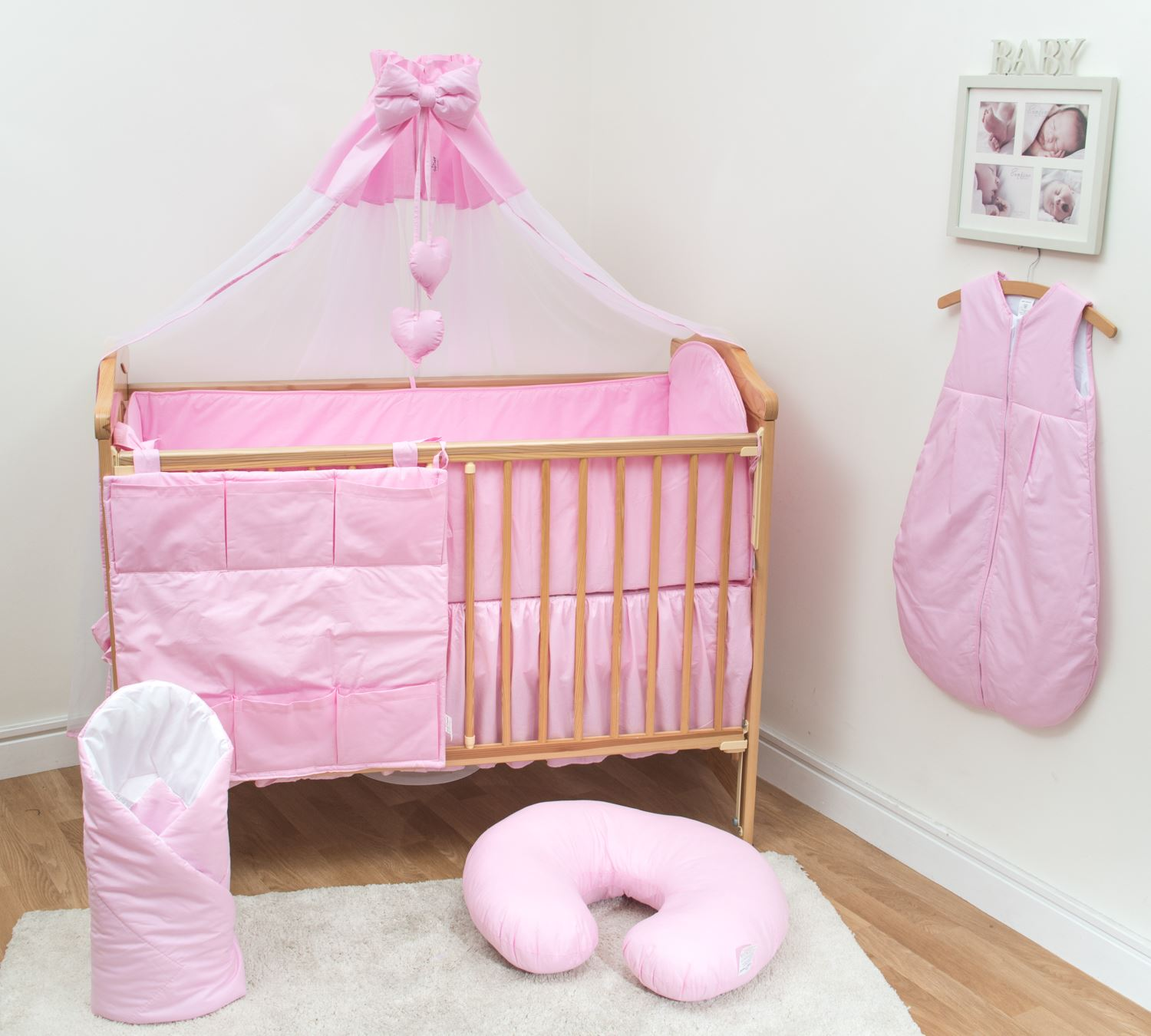 Bad Set For Baby Details About 10 Pc Baby Bedding Set With 4 Sided Bumper Fits 140x70cm Cot Bed Plain Pink