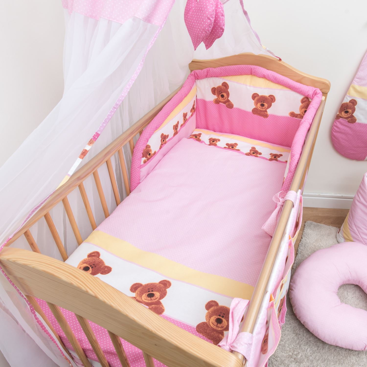 Bad Set For Baby Details About 10 Piece Baby Cot Bedding Set 140 120 Duvet Cover Cot Bed Safety Bumper Canopy