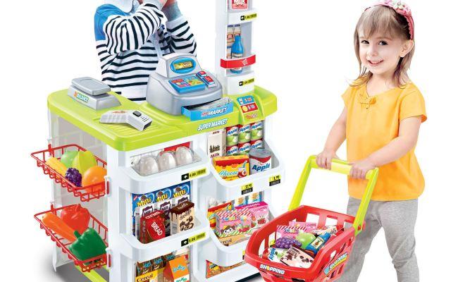 Vinsani Kids Role Play Supermarket Set Superstore Shop