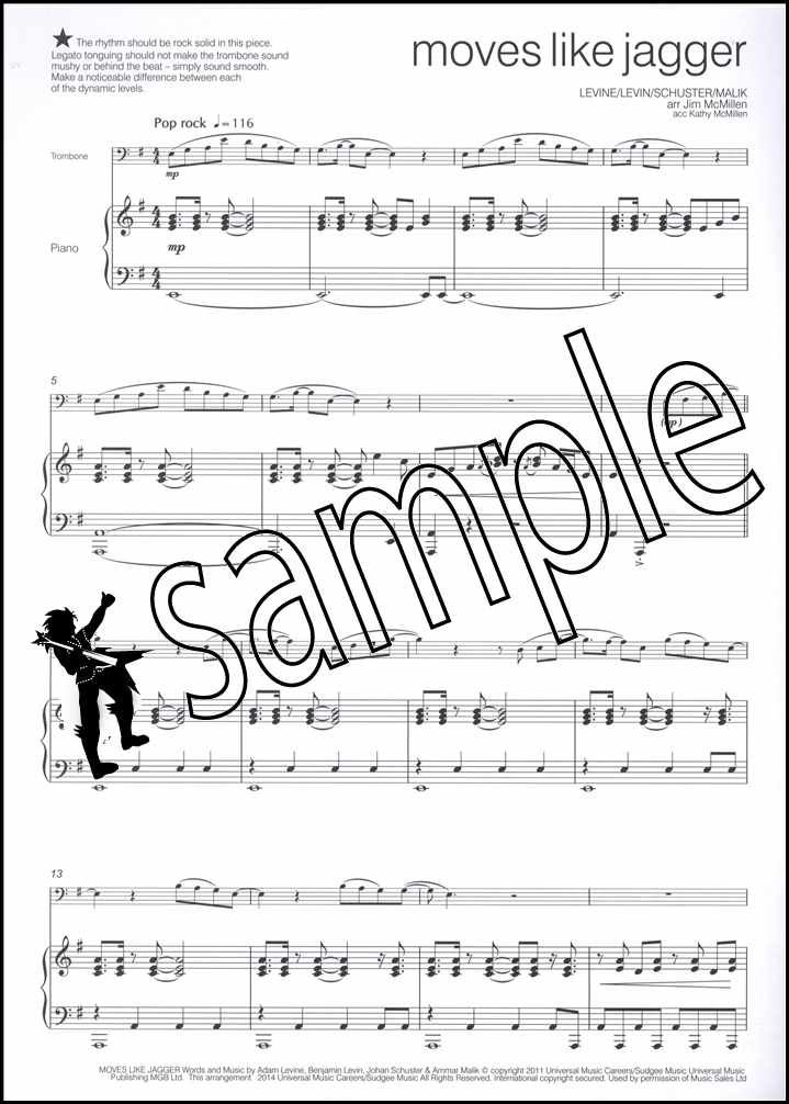 Across The Pond for Trombone 02 Bass Clef Sheet Music Book with CD
