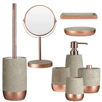 Neptune Bathroom Accessory Set (8pc) | Warm Copper Finish ...