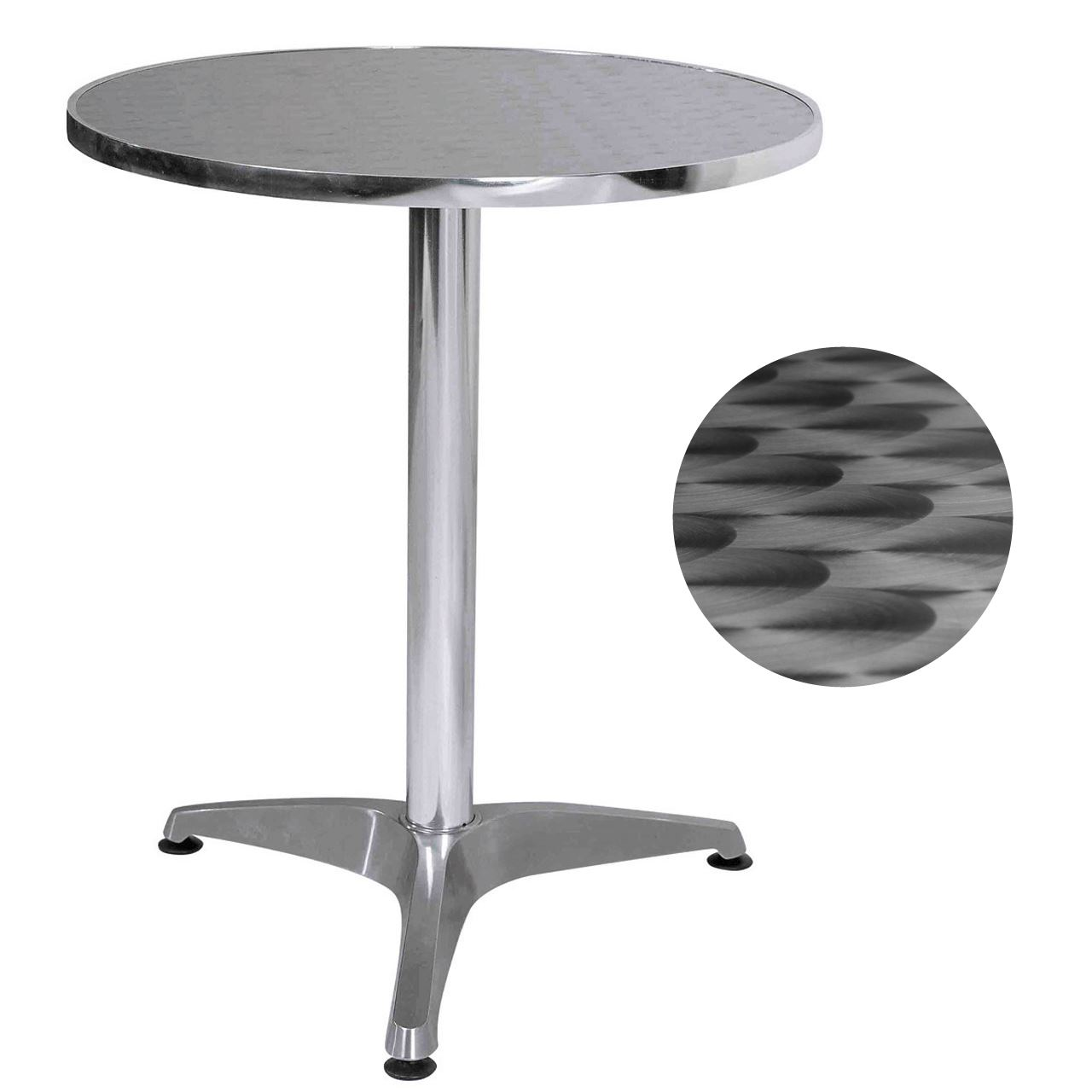 Table Bistrot Aluminium Details About Aluminium Bistro Round Table Pub Cafe Garden Patio Party Table