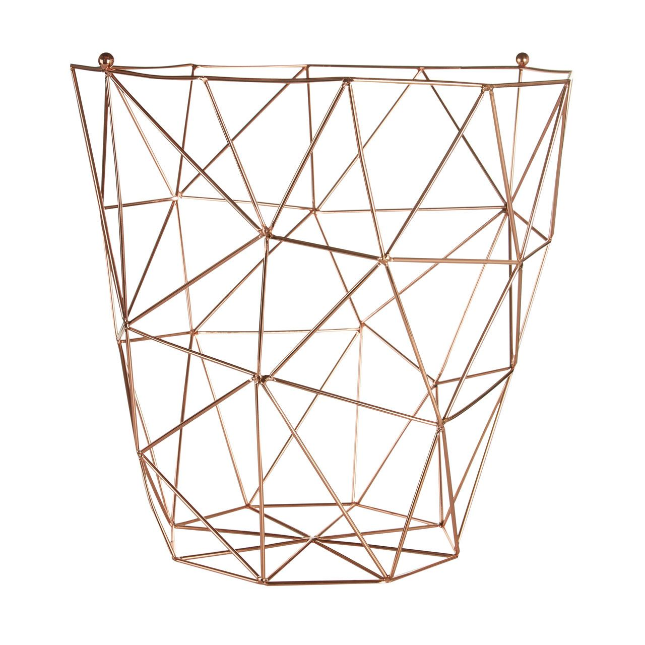 Decorative Metal Waste Baskets Vertex Kitchen Accessory Set Basket Utensil Trivet Copper