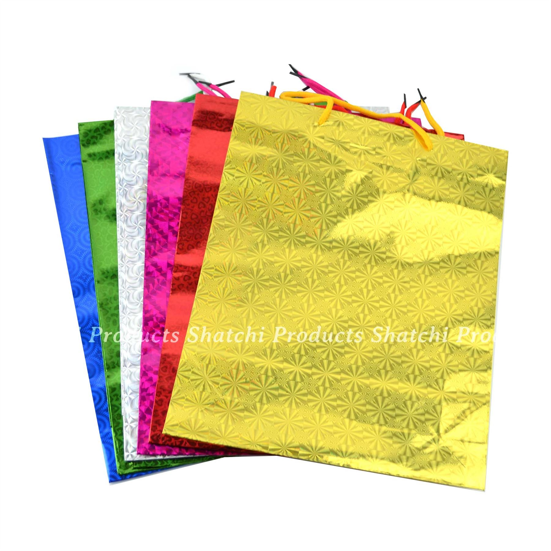 Paper Gift Bags Wholesale Wine Gift Bags Holographic Paper Foil Wedding Birthday