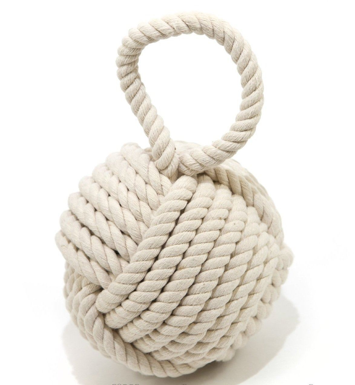Nautical Doorstop Quality Nautical Rope Knot Monkeys Fist Door Stop Cream