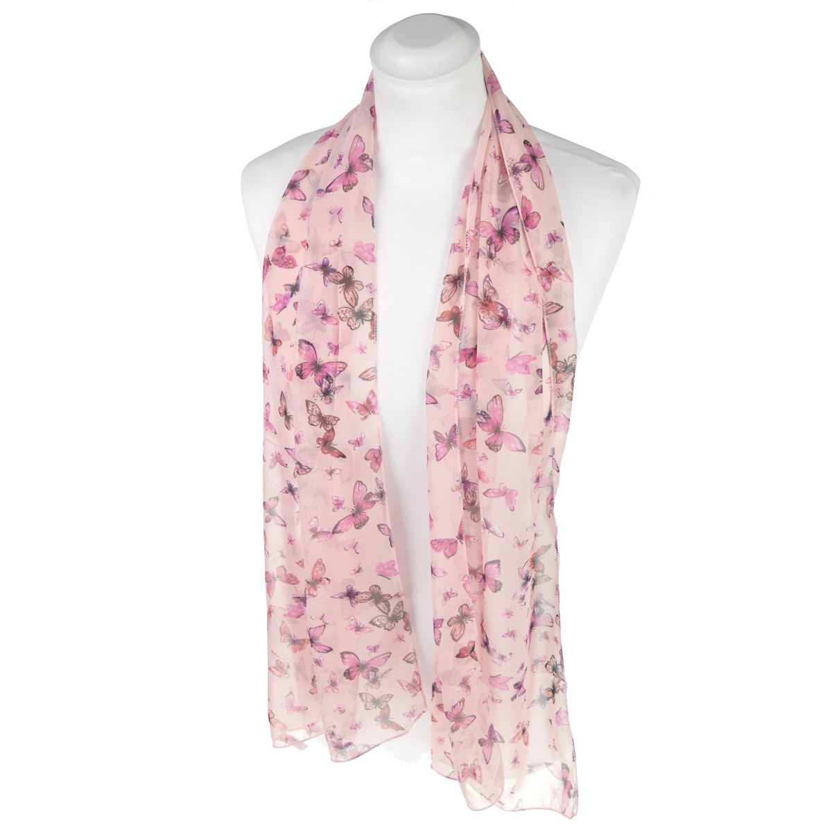 Women Classic Small Butterfly Scarf Premium Quality Neck