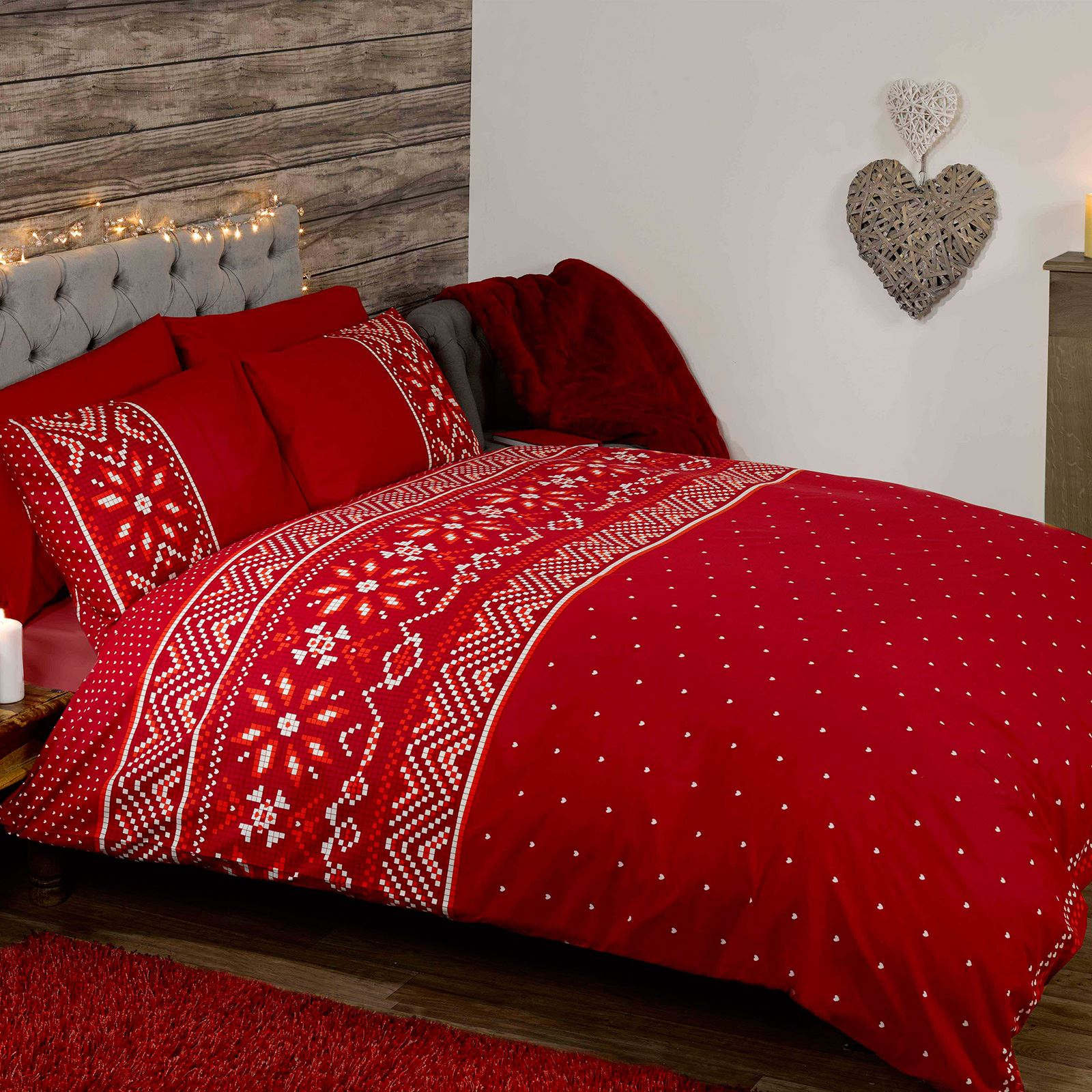 King Queen Bettwäsche Christmas Festive Duvet Cover Sets Bedding Adults Single