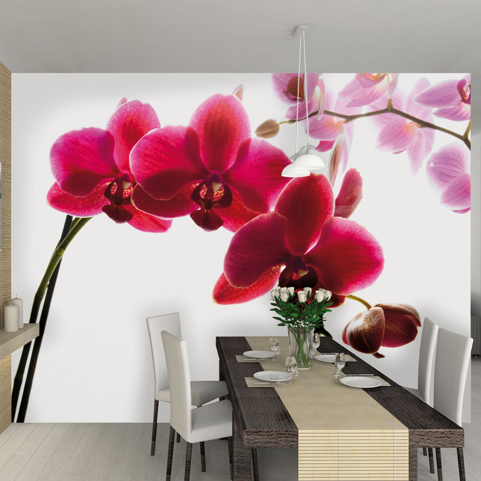 Déco Murale Diy Details About Orchid Flower Wallpaper Wall Mural 2 32m X 3 15m New