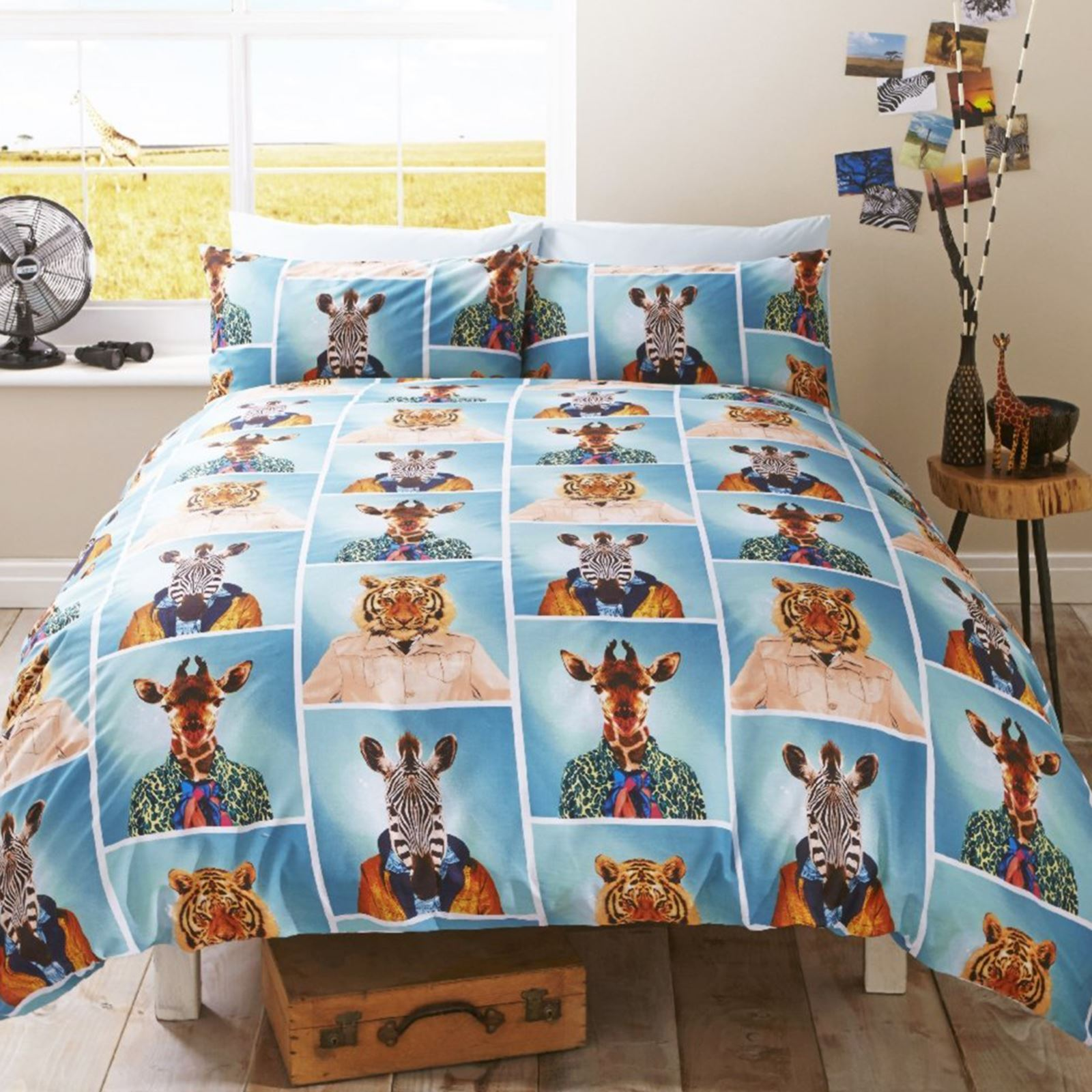 Grappige Dekbedovertrekken Fun Animal Single Duvet Covers Dogs Elephant Giraffe