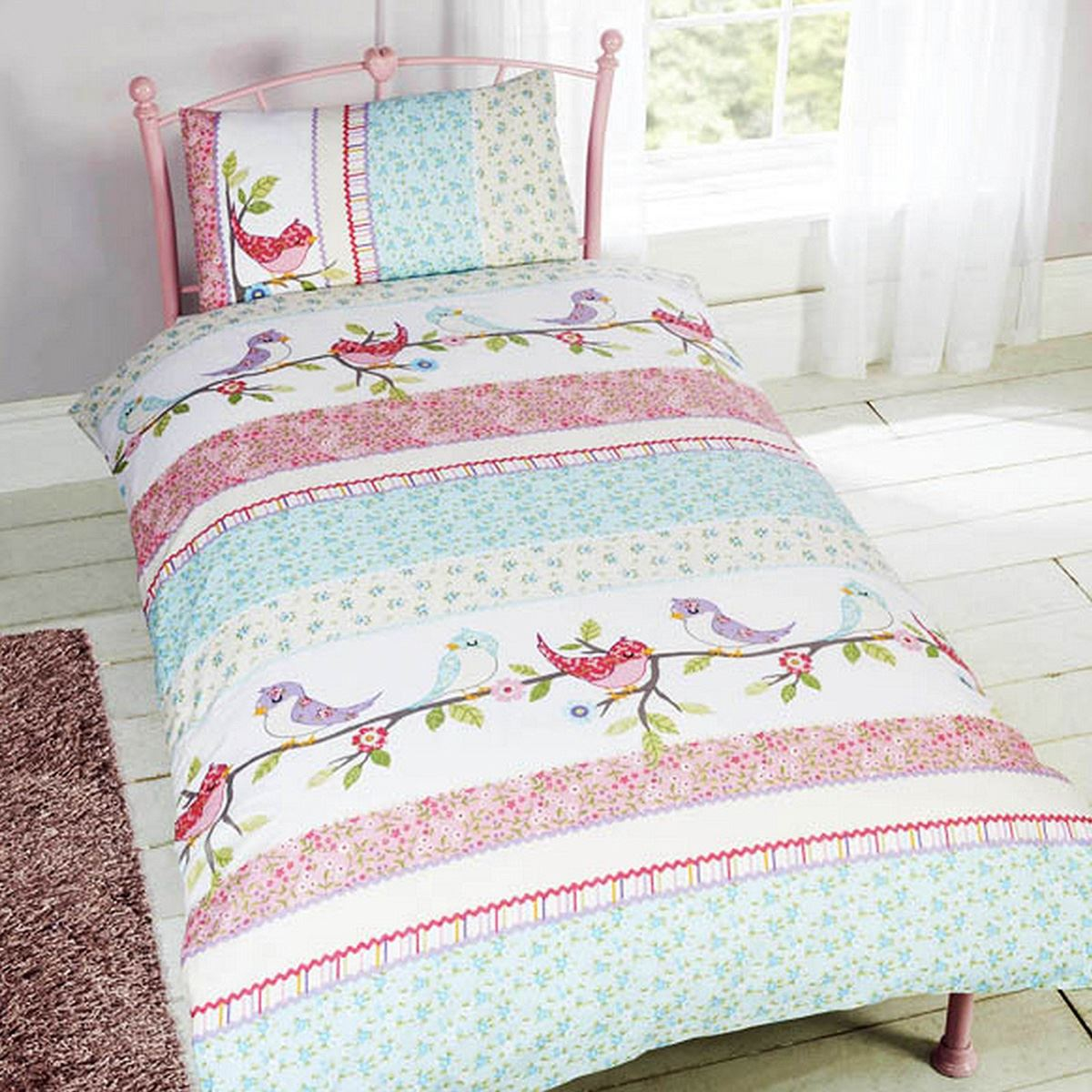 Girls Bedding Girls Single Duvet Cover Sets Bedding Unicorn Flower Horse