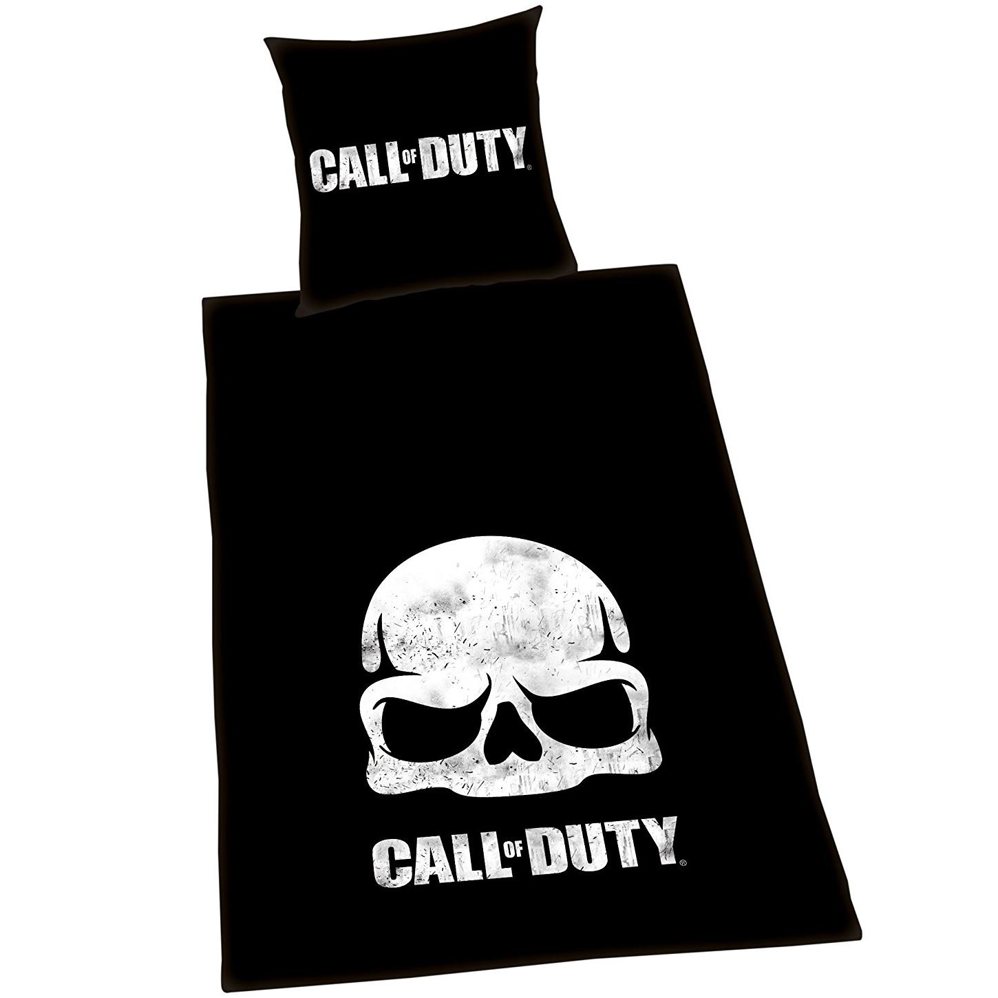 Black Friday Bettwäsche Details About Call Of Duty Black Ops Skull Single Duvet Cover Set European Cotton Reversible