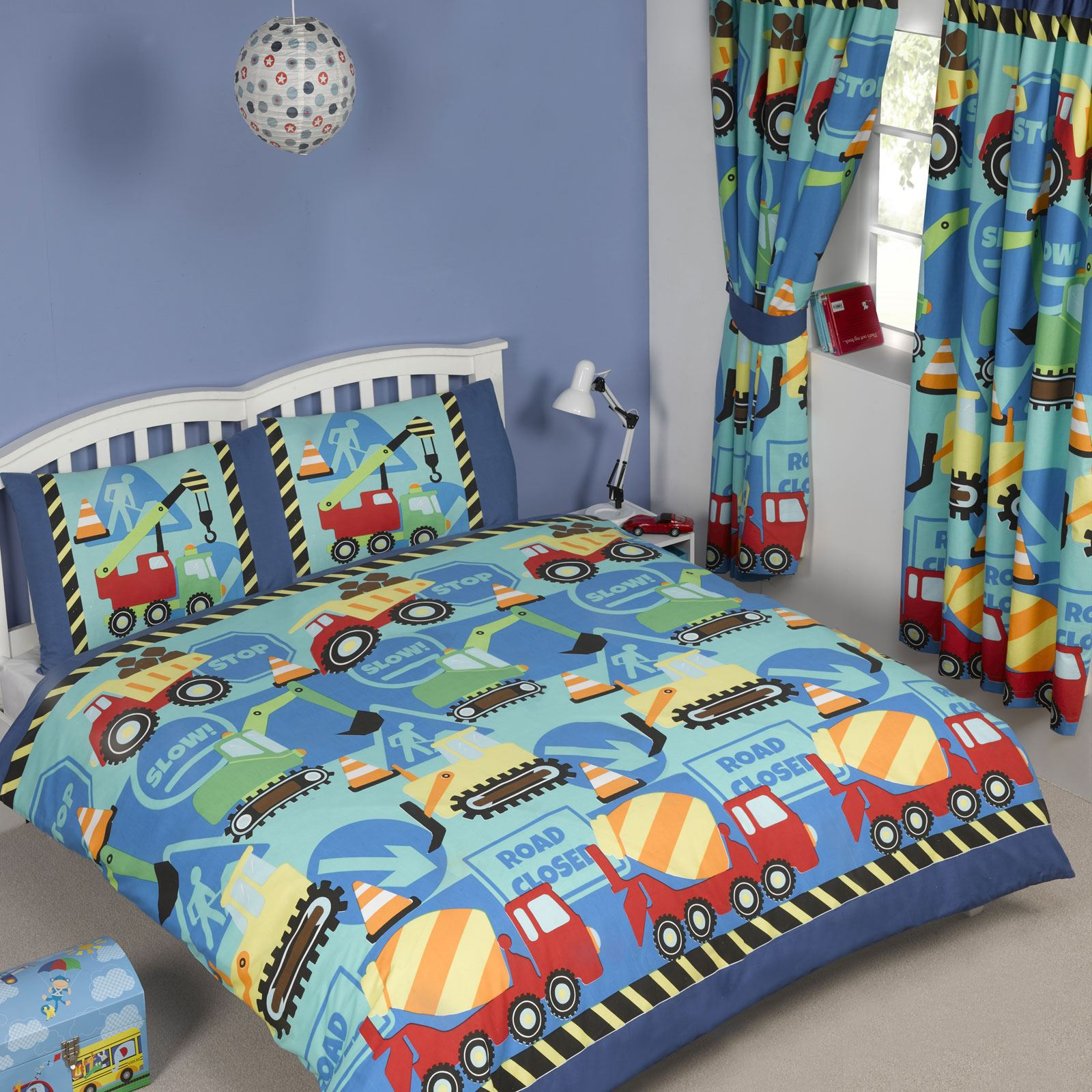 Boys Double Quilt Cover Details About Construction Time Double Duvet Cover New Builder Diggers Dumper Truck Boys