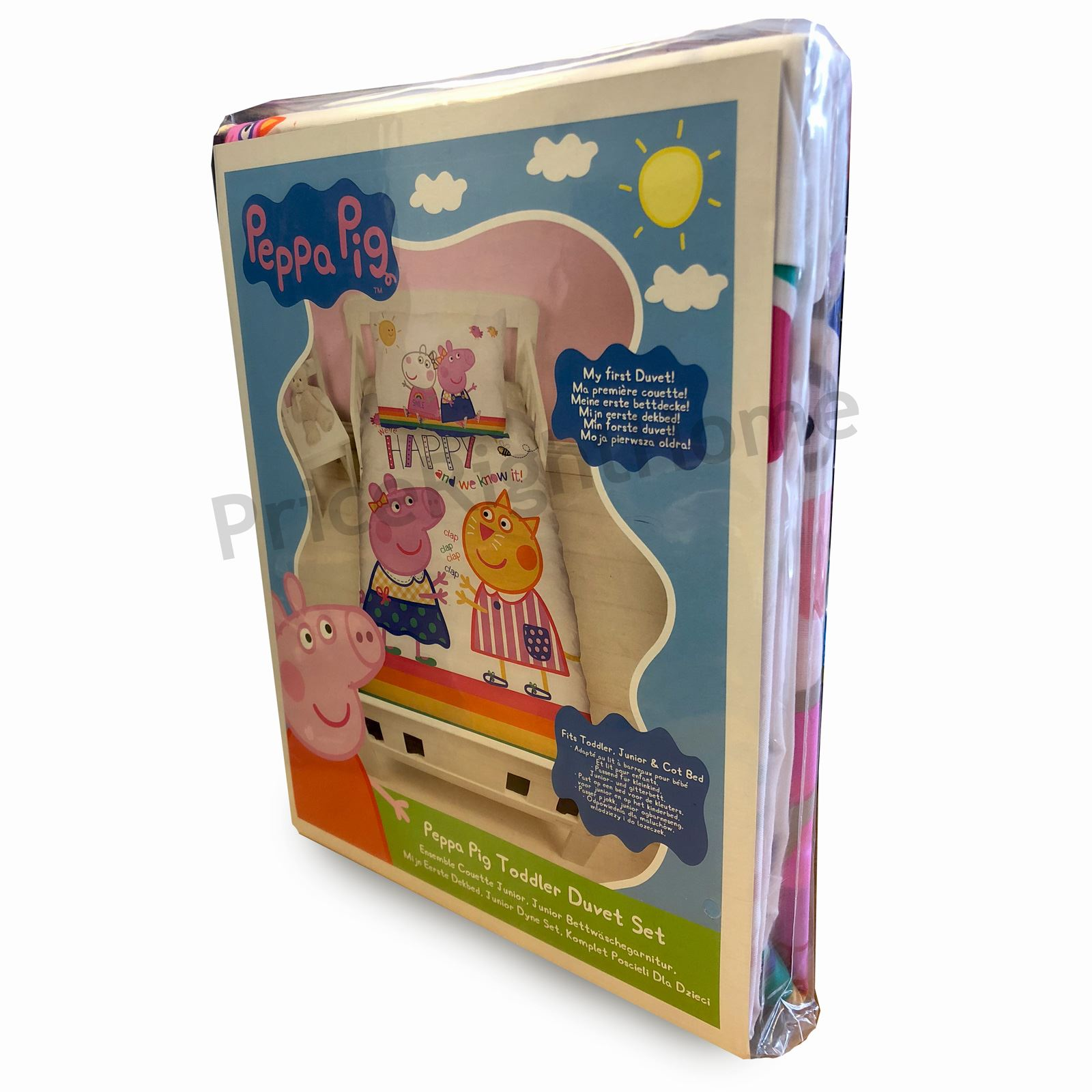 Peppa Pig Bettwäsche Peppa Pig Hurra Junior Kleinkinder Bettwäsche Set Panel