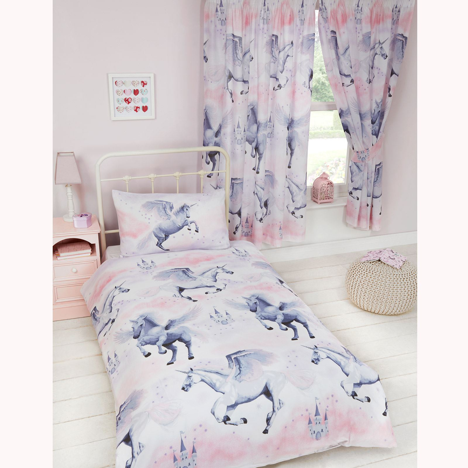 Single Doona Cover Details About Exclusive Stardust Unicorn Single Duvet Cover Set New Girls Bedding